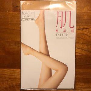 """Atsugi """"Skin"""" Sheer Beige stockings L - LL"""